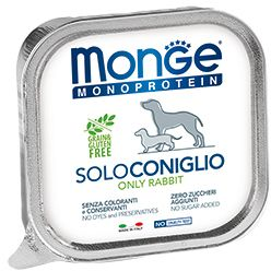 Monge Dog Monoprotein Solo консервы для собак паштет из кролика 150 гр.