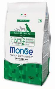 Monge Dog Maxi корм для взрослых собак крупных пород  3 кг.