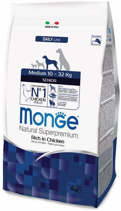 Monge Dog Medium корм для пожилых собак средних пород  3 кг.