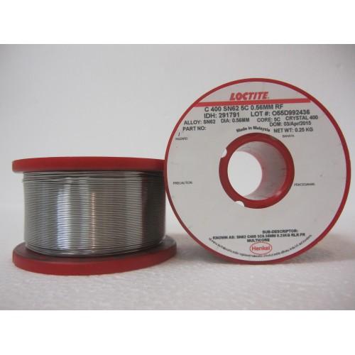 Припой Multicore Crystal 400 SN62 Pb36 Ag2 диаметр 0.56 мм