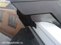 Багажник на крышу Lifan X70 на интегрированные рейлинги Евродеталь, крыловидные дуги