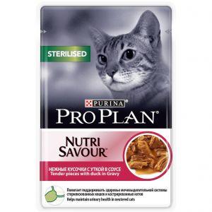 Консервы Pro Plan пауч кусочки в соусе для взрослых стерилизованных кошек с уткой 85 гр.