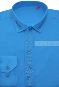 Детская рубашка дошкольная,   оптом 10 шт., артикул: Blue Aster 19 lt