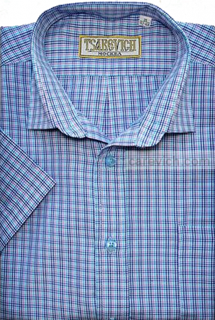 "Детская рубашка школьная,    ""ЦАРЕВИЧ"", оптом 10 шт., артикул: Derby-k"