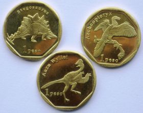 Динозавры Набор монет Синт-Мартен 1 песо 2019