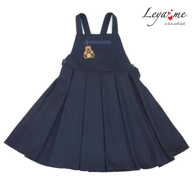 Сарафан синий с пышной юбкой со складками и игрушкой-брелком в кармане