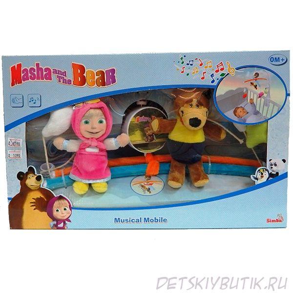 Мобиль музыкальный «Маша и Медведь»