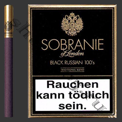 Сигареты SOBRANIE - Black Russian 100s