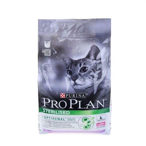 Корм сухой Pro Plan Sterilised для кошек с индейкой