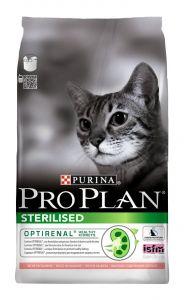 Корм сухой Pro Plan Sterilised для кошек с лососем
