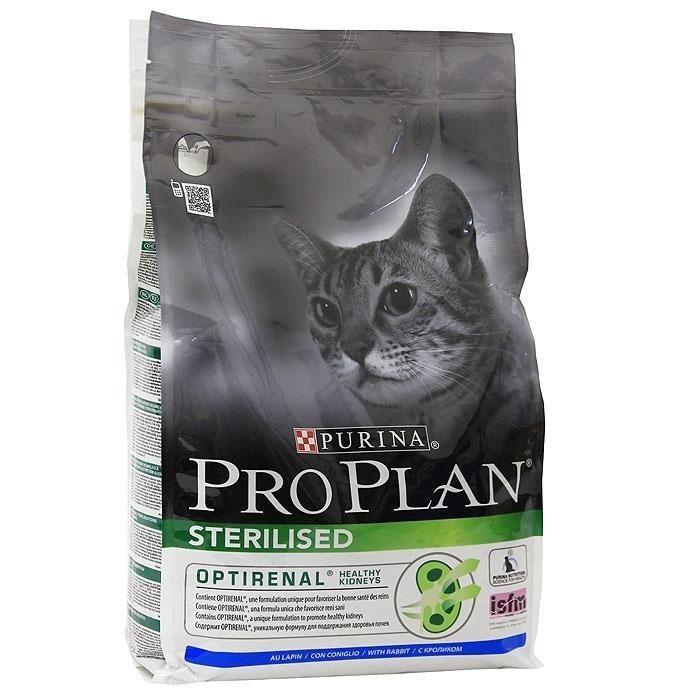 Корм сухой Pro Plan Sterilised для кошек с кроликом