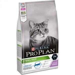 Корм сухой Pro Plan Sterilised для кошек старше 7 лет с индейкой