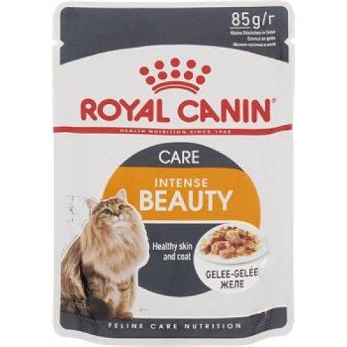 Консервы Royal Canin Intense Beauty Care пауч мелкие кусочки в желе для кошек 85 гр.
