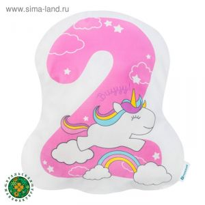 """Подушка """"Крошка Я"""" 2, 43х34 см, розовый, велюр, 100% п/э   4125431"""