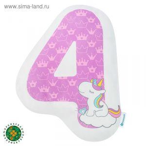 """Подушка """"Крошка Я"""" 4, 40х40 см, фиолетовый, велюр, 100% п/э   4125433"""