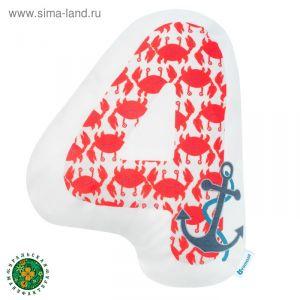 """Подушка """"Крошка Я"""" 4, 41х37 см, красный, велюр, 100% п/э   4125460"""