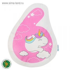 """Подушка """"Крошка Я"""" 6, 40х32 см, розовый, велюр, 100% п/э   4125435"""