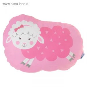 Подушка Крошка Я «Овечка», 44 ? 36 см, велюр, 100 % п/э