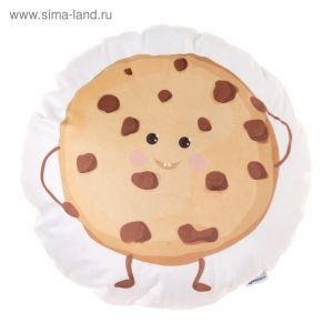 "Подушка ""Крошка Я"" Печенька 44х44 см, велюр, 100% п/э 3871663"