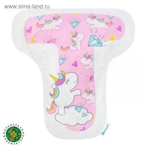 """Подушка """"Крошка Я"""" Т, 40х35 см, розовый, велюр, 100% п/э    4125427"""