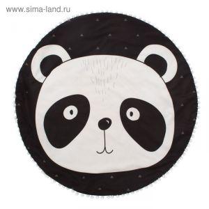 "Одеяло-плед ""Крошка Я"" Панда 90*90 см, велюр, 100% пэ, синтепон 100г/м2   4060561"