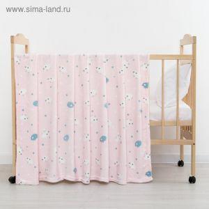 Плед «Барашки» цвет розовый 75?105 см, корал-флис, 230 г/м?, 100% пэ