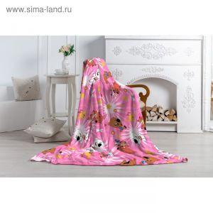 """Плед """"Павлинка"""" МимиМишки, 150х100, цвет розовый, аэрософт 190гм, пэ100%"""