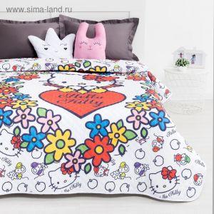 Покрывало Hello Kitty цвет белый 160х200 см, поплин
