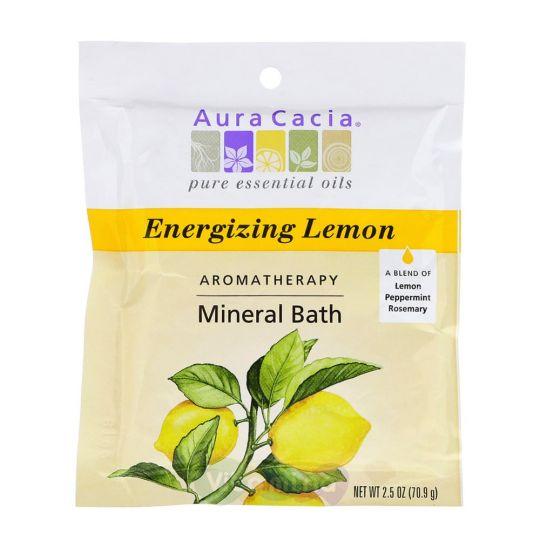 Aura Cacia Минеральное средство для ванны с ароматом Лимона Energizing Lemon