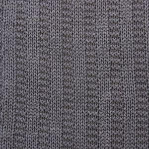 """Вязаный плед """"Этелька"""" размер 70х90 см, цвет серый"""