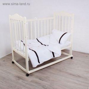 """Детское постельное бельё """"Шоколадный мишка"""", цвет белый 2025698"""