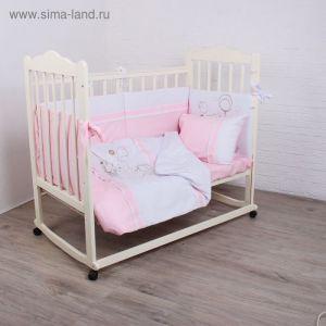"""Детское постельное бельё """"Шоколадный мишка"""", цвет розовый 2025699"""