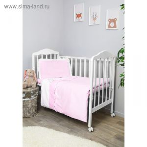 """Детское постельное бельё """"Пушистик"""" 100х140, 110х140, 60х40, цв розовый, сатин хл100 310/2 2831191"""