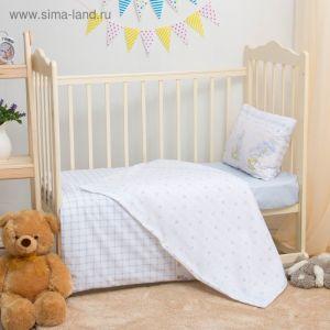 Детское постельное бельё Блакит kids Зайка 465201/465203, 147х112, 120х60х19, 40х60 1шт, хлопок