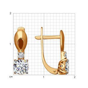 Серьги из золота со Swarovski Zirconia 81020176 SOKOLOV