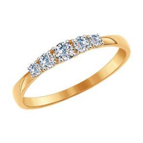 Кольцо из золота со Swarovski Zirconia 81010235 SOKOLOV