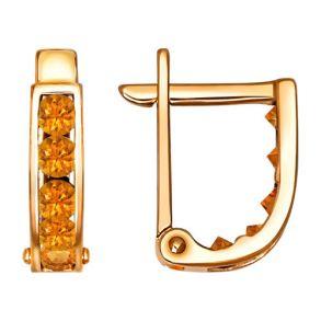 Серьги из золота с фианитами 021868 SOKOLOV