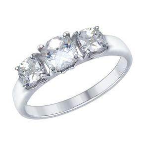 Кольцо из серебра со Swarovski Zirconia 89010066 SOKOLOV