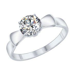 Кольцо из серебра со Swarovski Zirconia 89010031 SOKOLOV