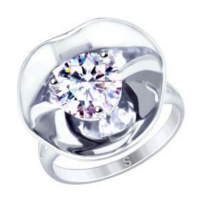 Кольцо из серебра с фианитом 8-94010001 SOKOLOV