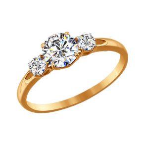 Помолвочное кольцо со Swarovski Zirconia 81010186 SOKOLOV