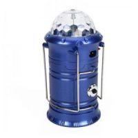 Фонарь кемпинговый с диско-шаром складной (цвет синий)_2