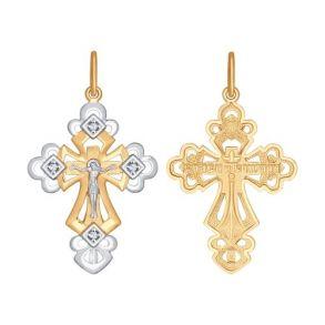 121369 Крест из золота с фианитами SOKOLOV