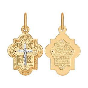 Крест из золота 121298 SOKOLOV