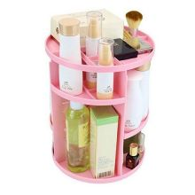 Вращающийся органайзер для косметики 360 Rotation Cosmetic Organizer, Розовый