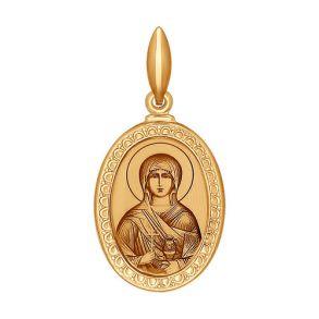 Иконка из золота с лазерной обработкой 100979 SOKOLOV