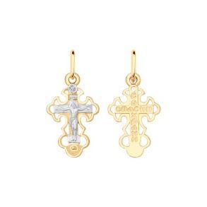 Крест из золота с фианитом 121315 SOKOLOV