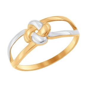 Кольцо из золота «Узелок» 017071 SOKOLOV