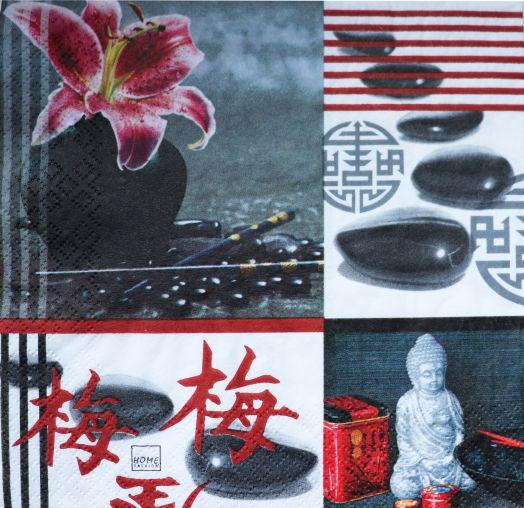 Салфетка бумажная 30*30 Азия