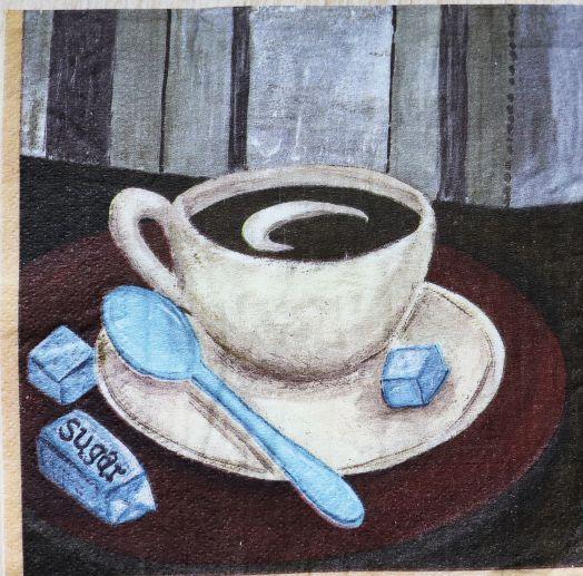Салфетка бумажная 30*30 Кофе с сахаром